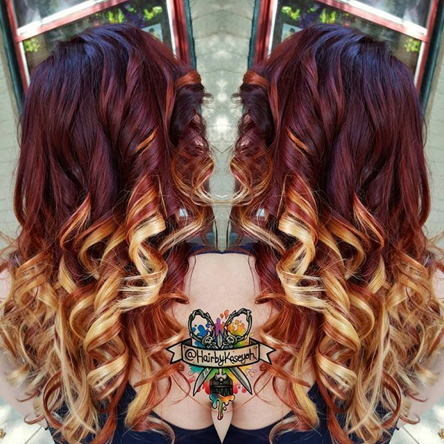 "Snowed in! Here's some fiery hair to warm you<span class=""emoji emoji2668""></span><span class=""emoji emoji2668""></span><span class=""emoji emoji2668""></span><span class=""emoji emoji2668""></span> <span class=""emoji emoji1f60d""></span> #JackWinnColor #hairbykaseyoh # #behindthechair ..."