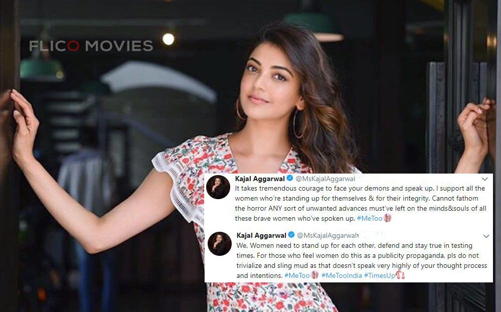 Actress Kajal Aggarwal Who Took To Her Twitter Space To Post Her Statement She Tweeted It Takes Tremendous Courage To Face Your Brave Women Women Supportive
