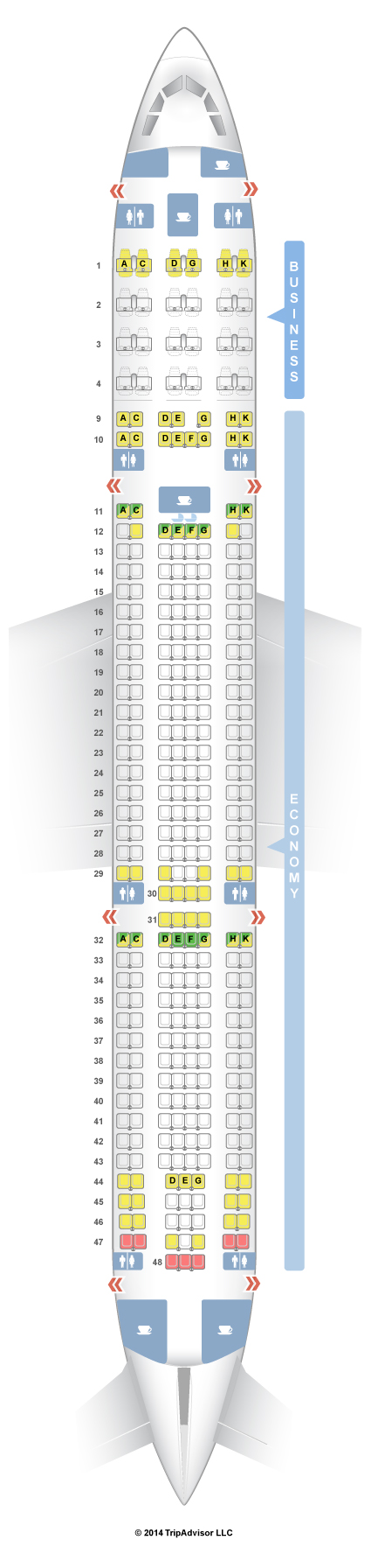 Seatguru Seat Map Aer Lingus Airbus A330 300 330 Ireland