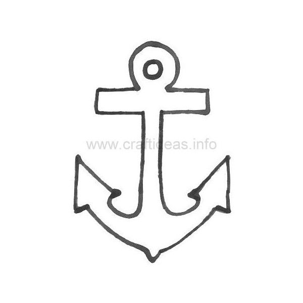It is a photo of Insane Anchor Stencil Printable
