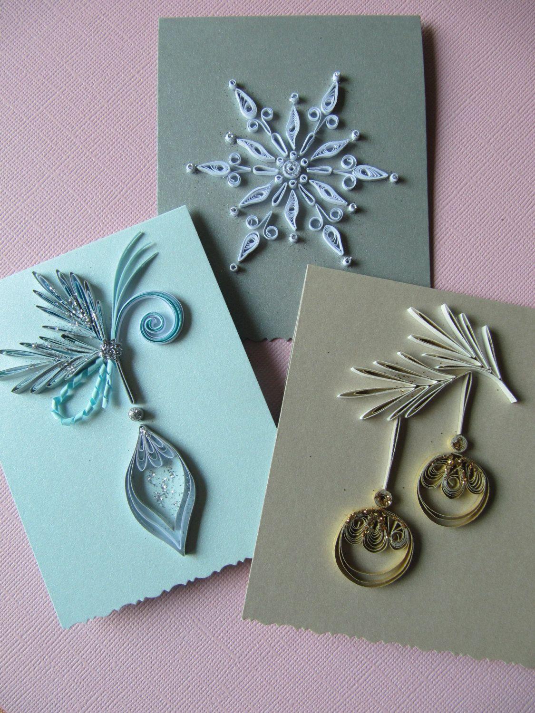 Set of 3 christmas handmade mini greeting cards by rudibelart set of 3 christmas handmade mini greeting cards by rudibelart kristyandbryce Gallery