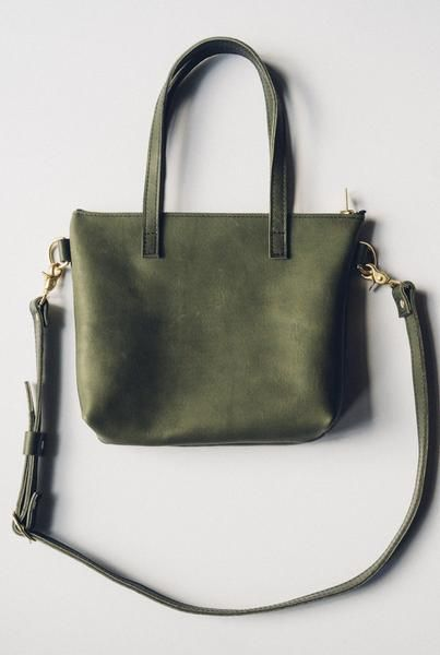 hustle & hide co // the ren tote in olive green