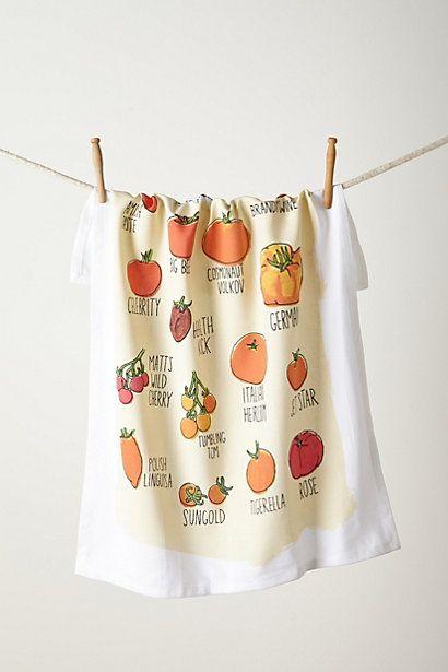Tomato Garden Dishtowel Dish Towels Cute Kitchen Kitchen Tea Towels