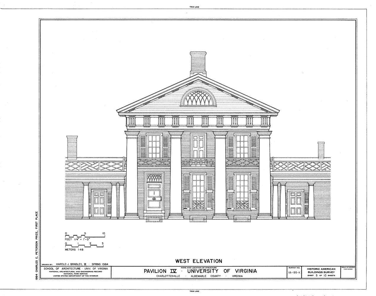 Gallery Of Ad Classics University Of Virginia Thomas Jefferson 2 Thomas Jefferson University Of Virginia Architecture Blueprints