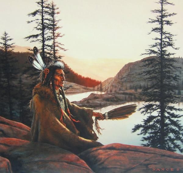 INDIAN MAIDEN WITH EAGLES by Meiklejohn /& Tree Free! Blank Notecard