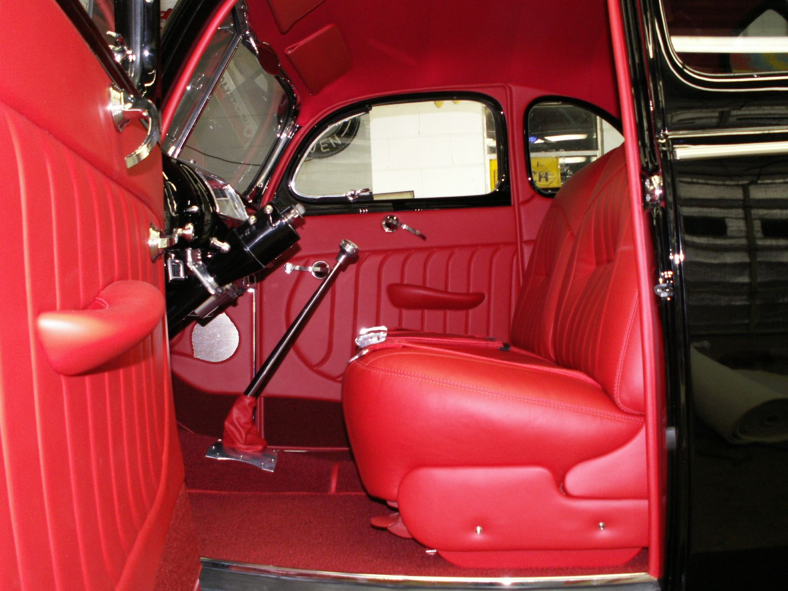 1940 ford coupe custom red leather interior red pepper way pinterest ford car interiors. Black Bedroom Furniture Sets. Home Design Ideas