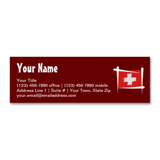 Switzerland brush flag business card travel business card switzerland brush flag business card reheart Image collections