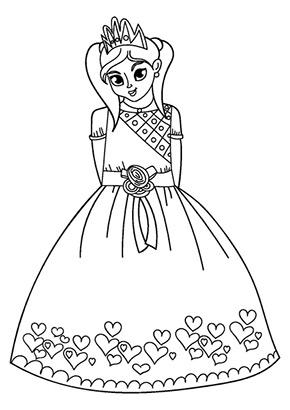 Ausmalbild Verliebte Prinzessin Malvorlage Prinzessin Ausmalbilder Prinzessin Ausmalen