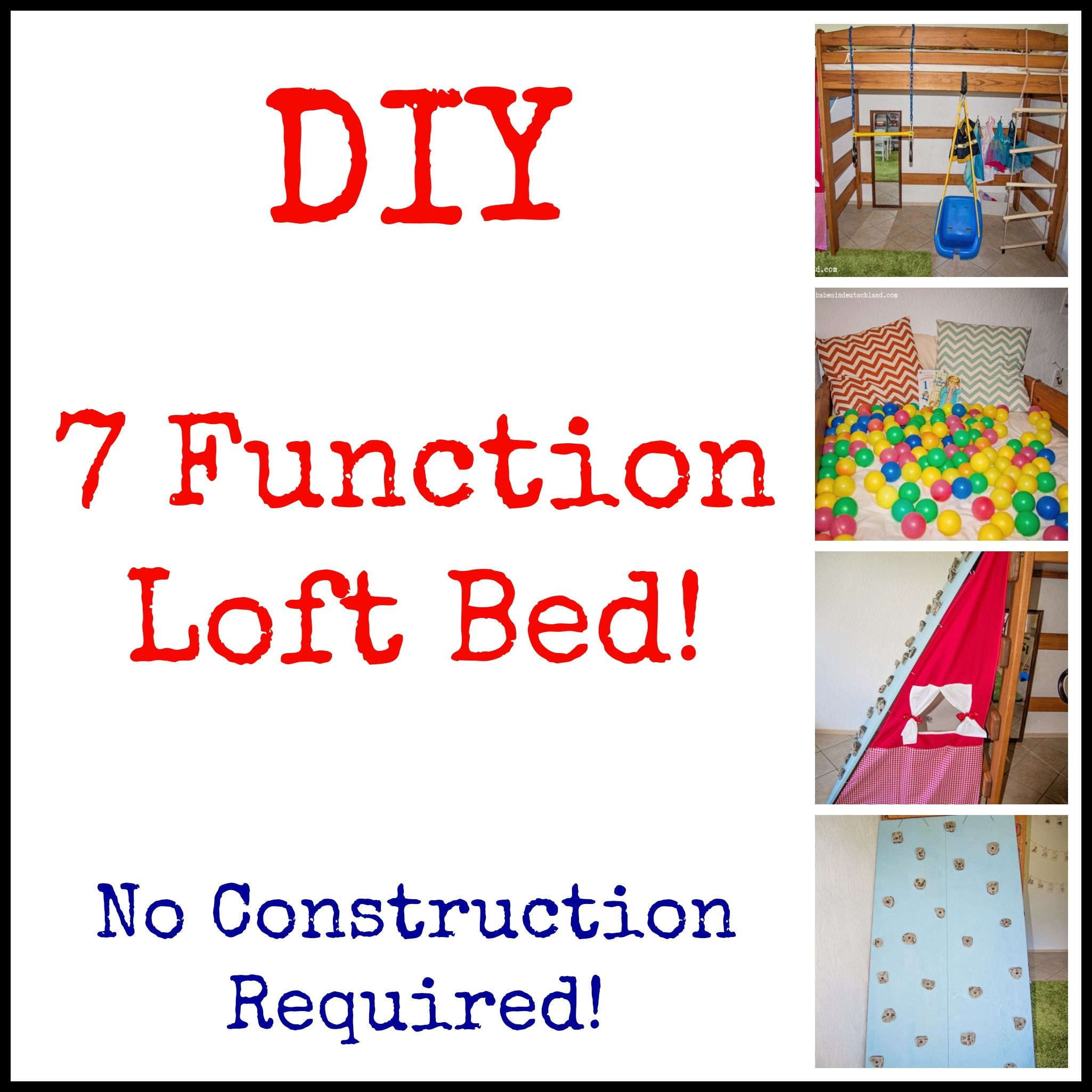 DIY loft bed play structure