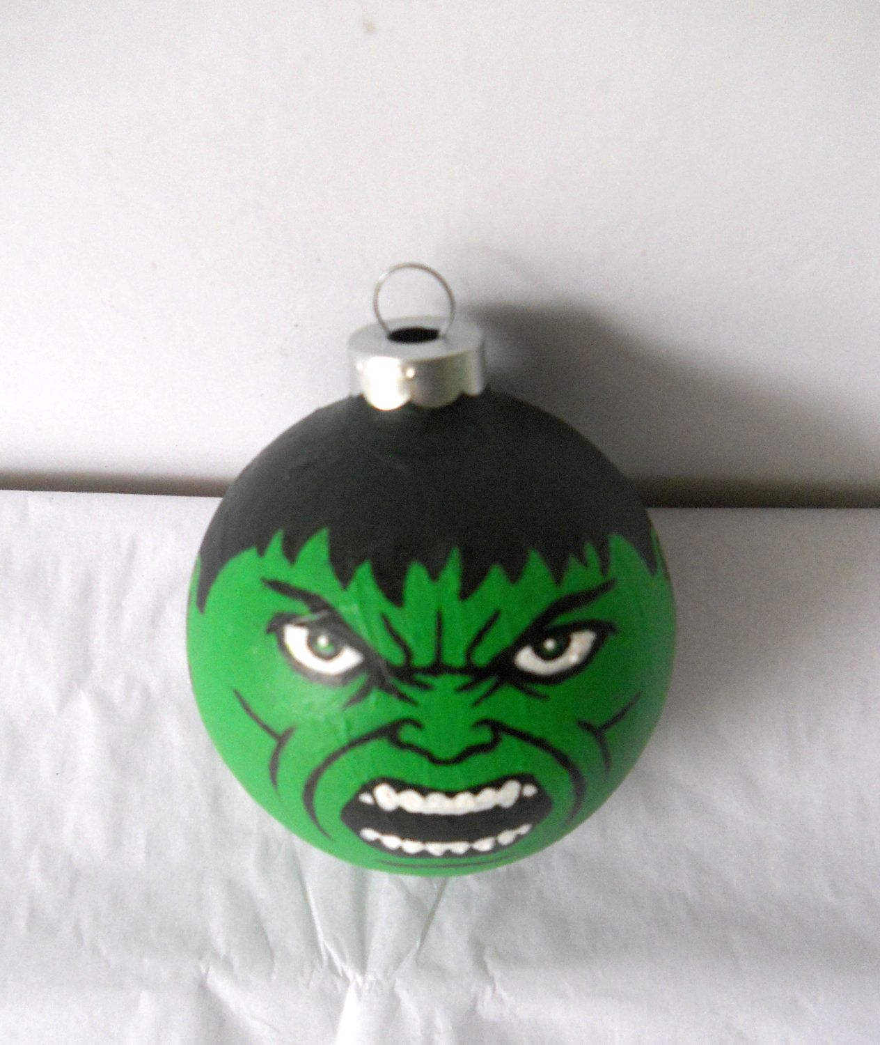 Avengers hulk painted holiday christmas ornament by gingerpots