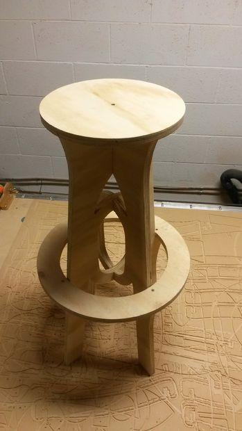 cnc router bar stool re scape wood pallets skids pinterest rh pinterest com