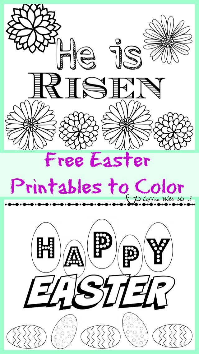 2 Free Easter Printables To Color