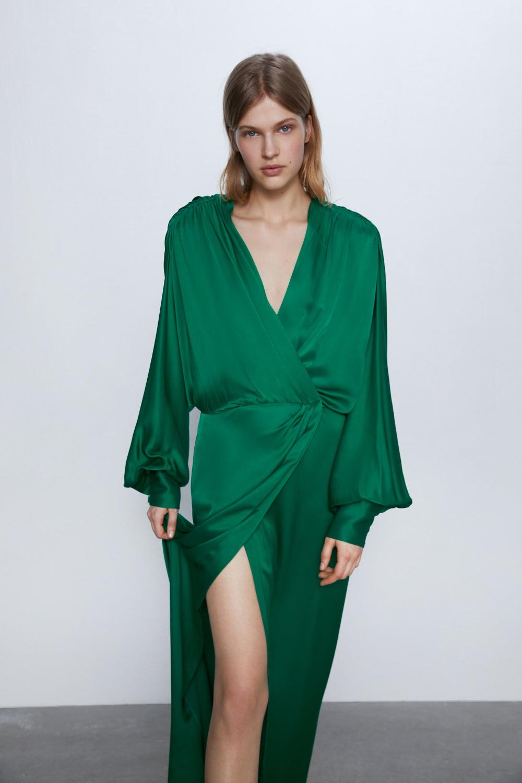 Long Satin Dress Zara Serbia In 2020 Satin Dress Long Womens Dresses Womens Maxi Dresses