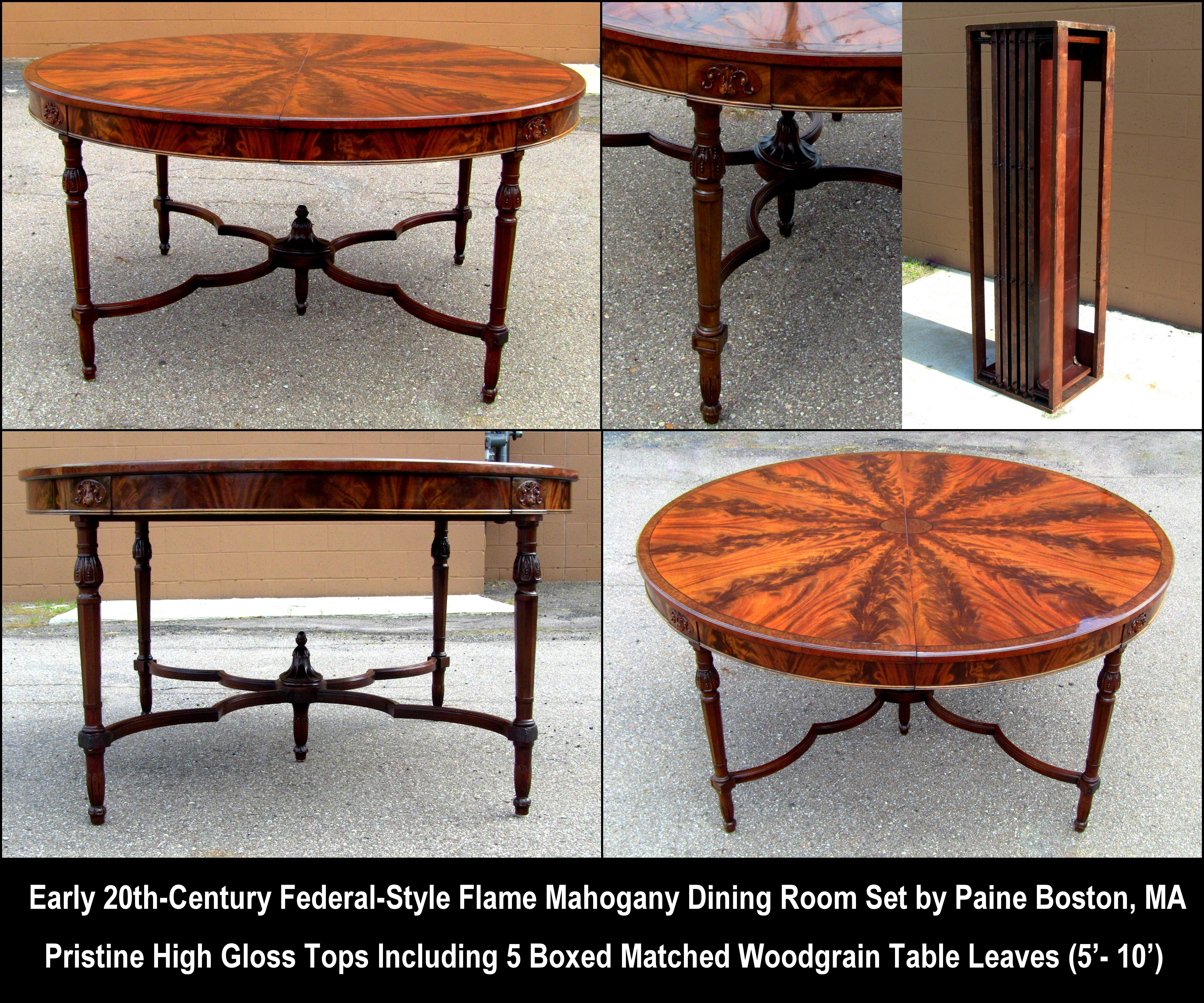 An Amazing Pristine Federal Period Style Dining Room Set By Paine Furniture Company Of Boston Ma
