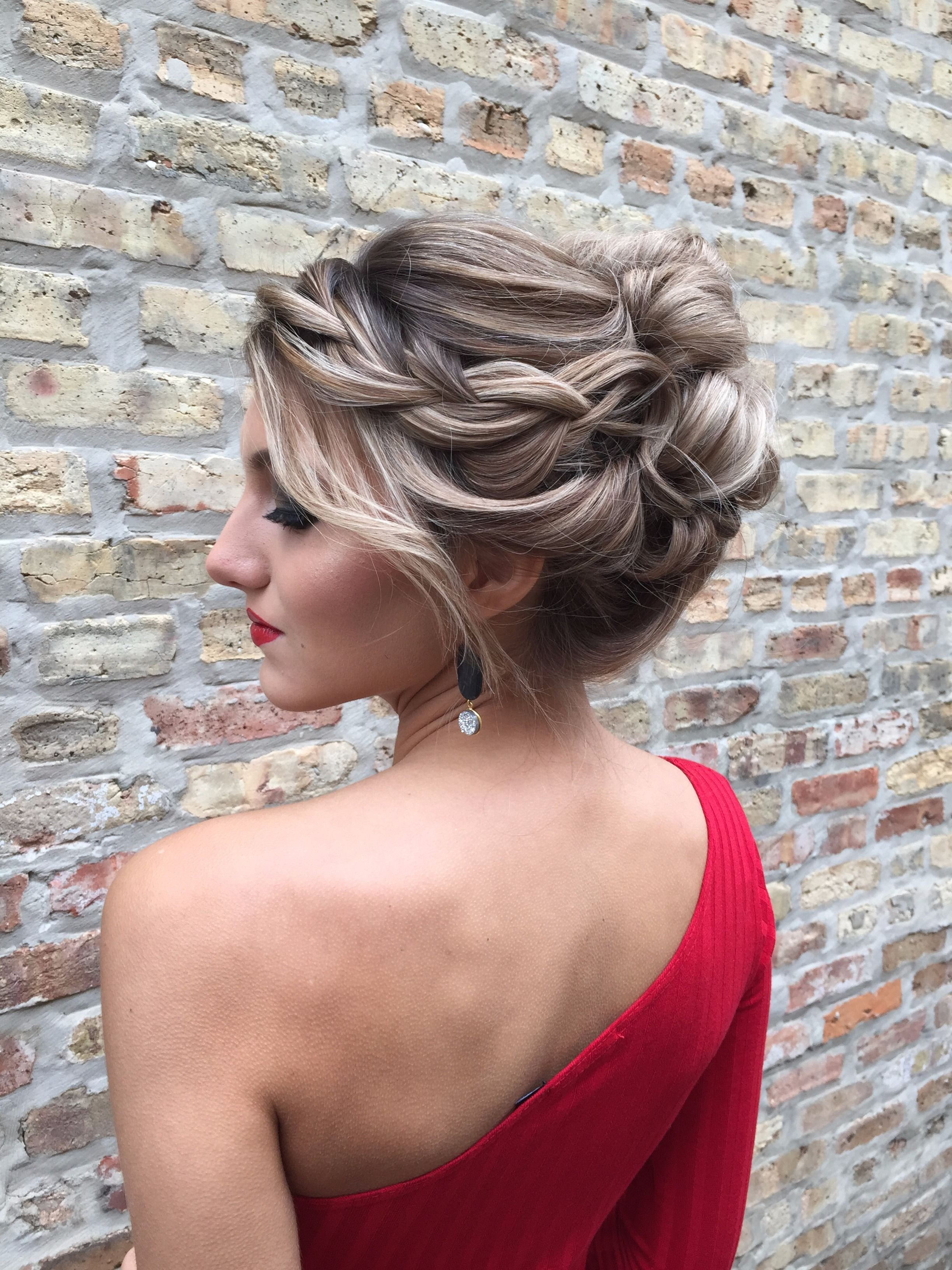 Some updo shots from our holiday hair session this elegant braided