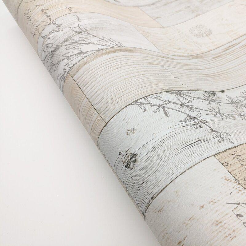 Paloma Wood Panel Pattern Contact Paper Latina 9 8 L X 19 6 W Distressed Peel And Stick Wallpaper Roll In 2020 Peel And Stick Wallpaper Wood Paneling Pattern Wallpaper