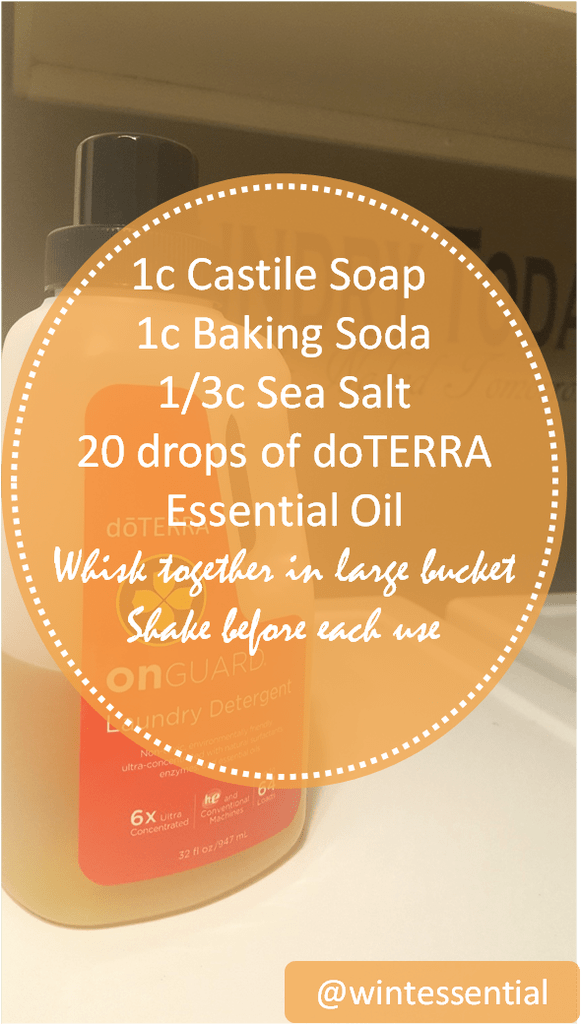 Laundry Detergent With Essential Oils The Never Ending Clean
