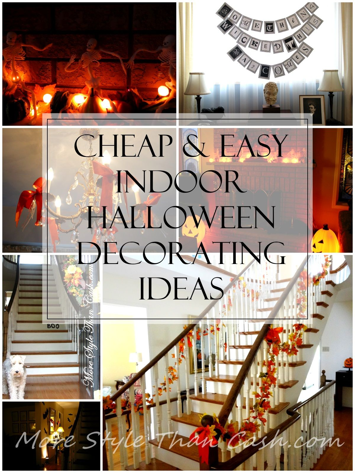 Cheap And Easy Indoor Halloween Decorating Ideas Halloween Decor Diy Indoor Cheap Halloween Decorations Halloween Decorations Indoor