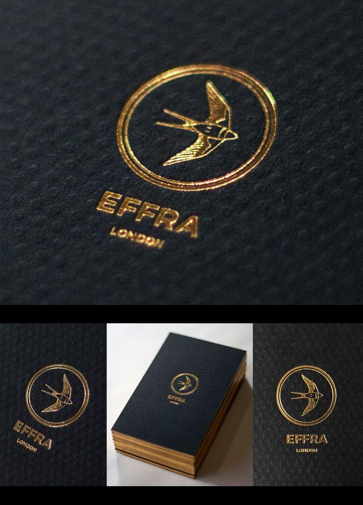 Custom gold foil business cards gold foil edge business