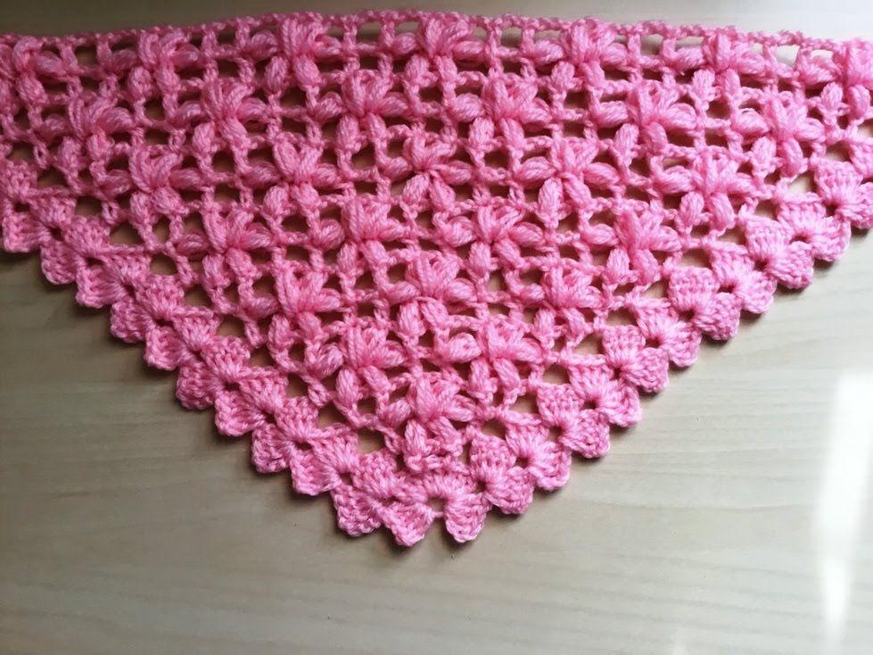 Chal crochet flores puff muy facil de tejer / Châle fleur puff ...