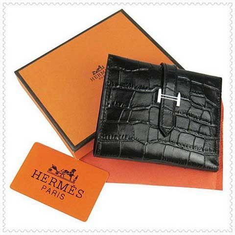 Hermes Black Bearn Mini Crocodile Leather Wallet 135 00 Save 82 Off