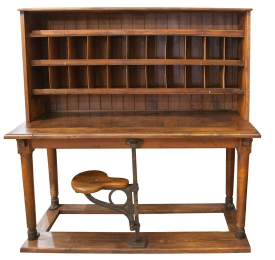 English Post Office Sorting Desk : The Old Cinema – Antique Furniture,  Vintage, Industrial, Danish, French - I Love This Yummy Big Time. English Post Office Sorting Desk C