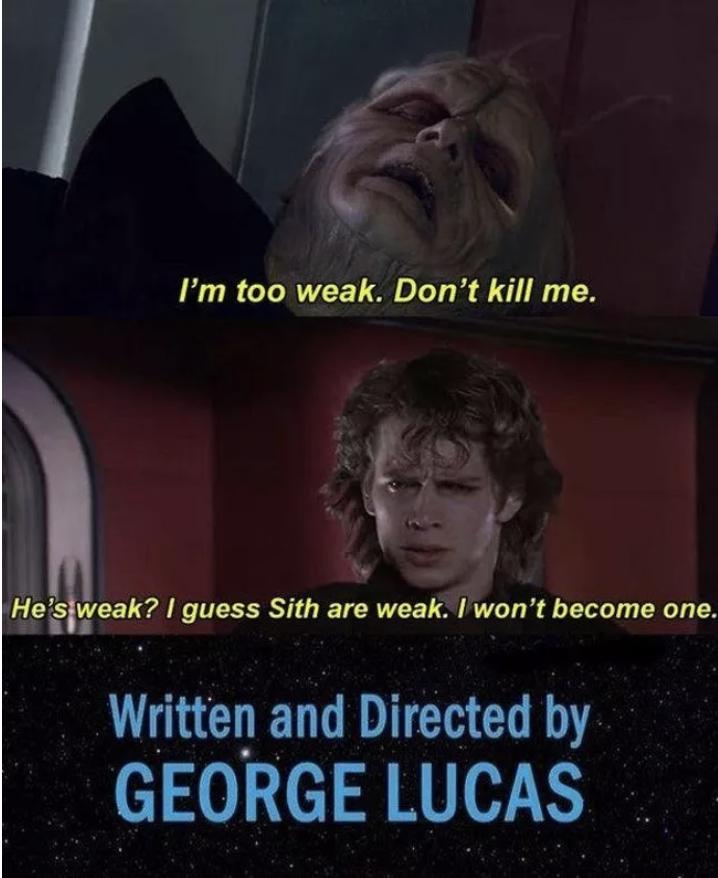 The Funniest Star Wars Prequel Memes Star Wars Quotes Star Wars Jokes Funny Star Wars Memes