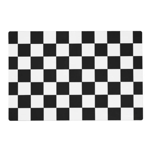 Black And White Checkered Checkerboard Pattern Placemat Zazzle Com Black White Rug Cloth Flag Checkerboard Pattern