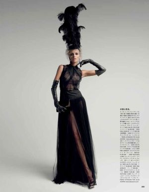Anja Rubik by Patrick Demarchelier in Dior Couture for Vogue Japan May 2012 by Ebbee <3