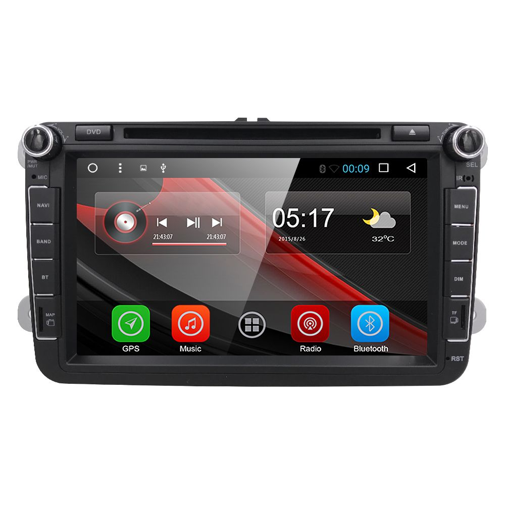 Monitor Dvr 3g 1024 600 Android 6 0 Car Radio Dvd Player For Vw