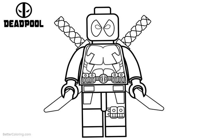 Lego Deadpool Coloring Pages Lego Coloring Pages Animal Coloring Pages Superhero Coloring Pages