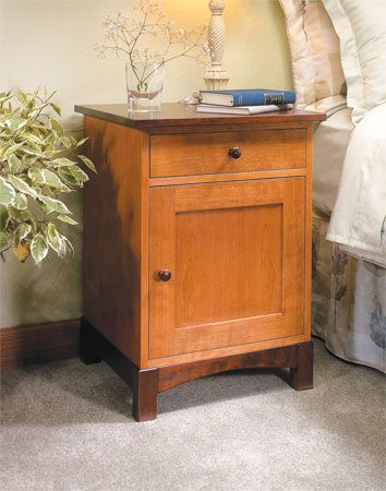 Two Tone Night Stand Woodsmith Plans 9 95 Furniture Pinterest