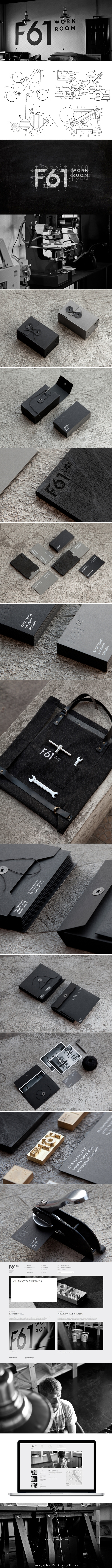 F61 Brand Identity By Pavel Emelyanov  F61 Work Room. F61 is the print studio in St. Petersburg.