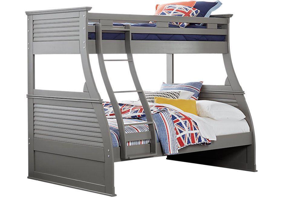 Belmar Gray 4 Pc Twin Full Bunk Bed 999 99 80l X 60w X 69h