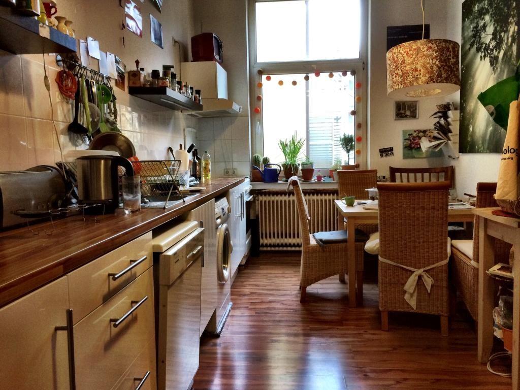 Bunt eingerichtete und gemütliche Gemeinschaftsküche. #WG #Küche ...