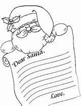santa letter template coloring dear santa