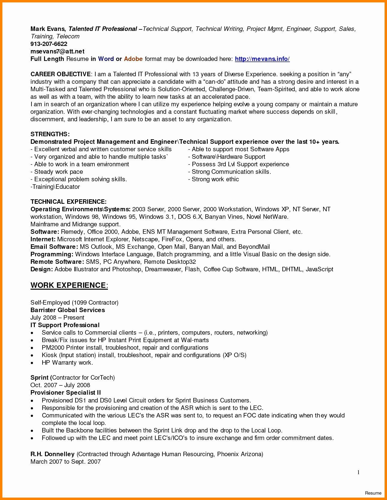 20 help desk technician resume resume examples