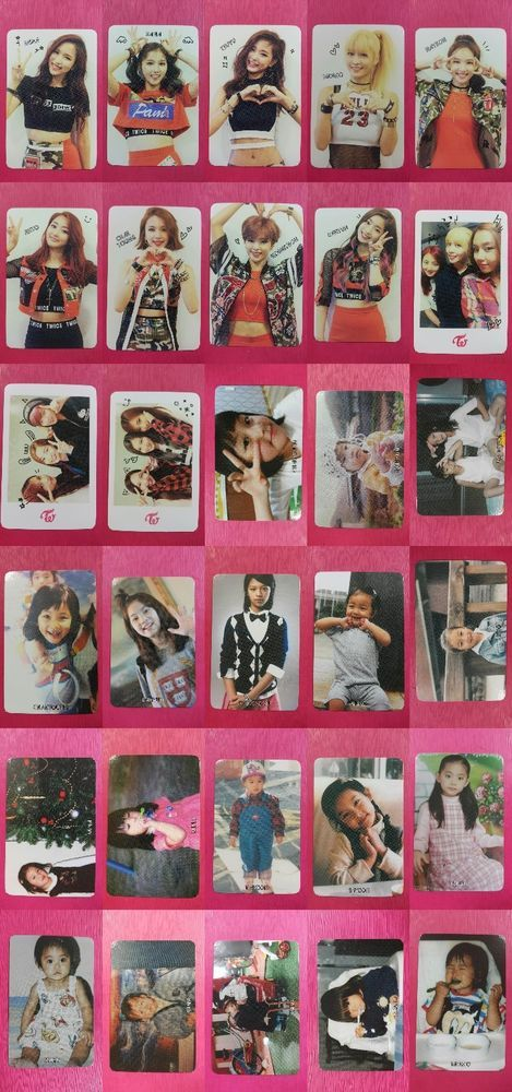 Details about LOT of 30 TWICE Official PHOTOCARD Adult Unit