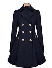 forma magro duplo casaco trespassado das mulh... – EUR € 32.91
