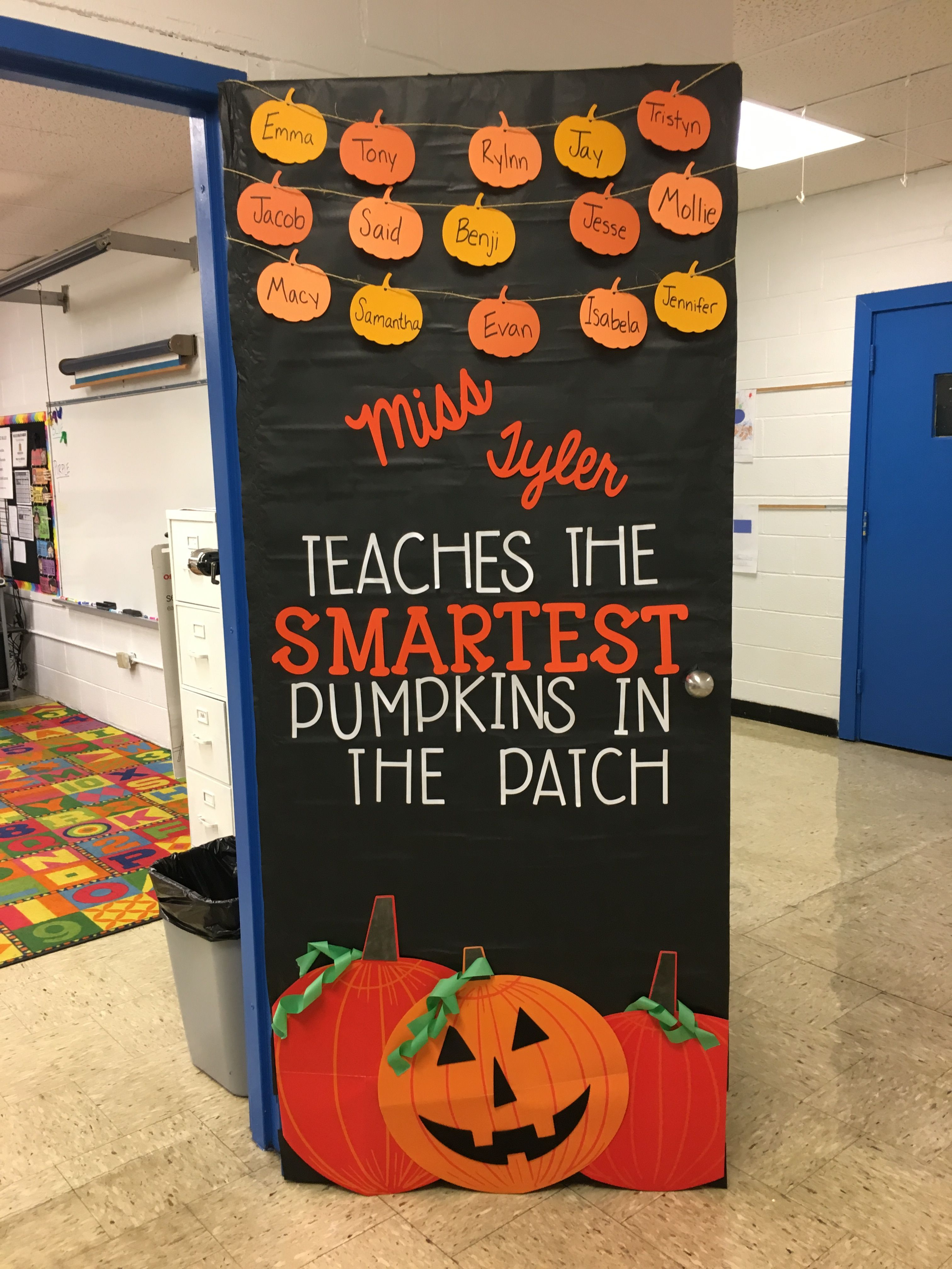 October Door Decor Firstgrade Halloween Pumpkins Doordecor