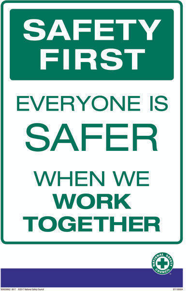 Poster Safety First Eng Safety Quotes Workplace Safety Slogans Safety Slogans