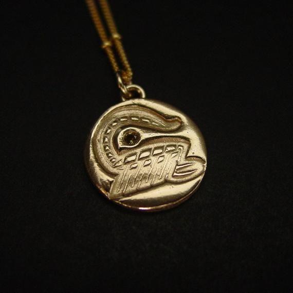 Photo of Scorpio Zodiac Necklace with Birthstone Golden Topaz
