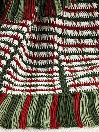 Crochet On The Double Mile A Minute Christmas Afghan Mile A Minute