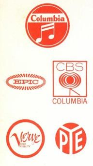 1950s Record Company Logos Columbia Records Epic Cbs Verve Pye Record Label Logo Album Design Music Images