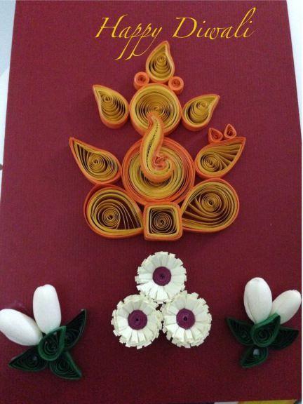 Diwali Greeting Cards 8 Creative Diy Ideas By The Champa Tree Handmade Diwali Greeting Cards Diwali Greeting Cards Diwali Cards