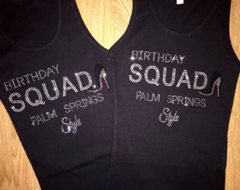 6 Birthday Squad Shirts . Women s Birthday Destination t-shirts - Silver  Sparkle… 4f3774dd14c0