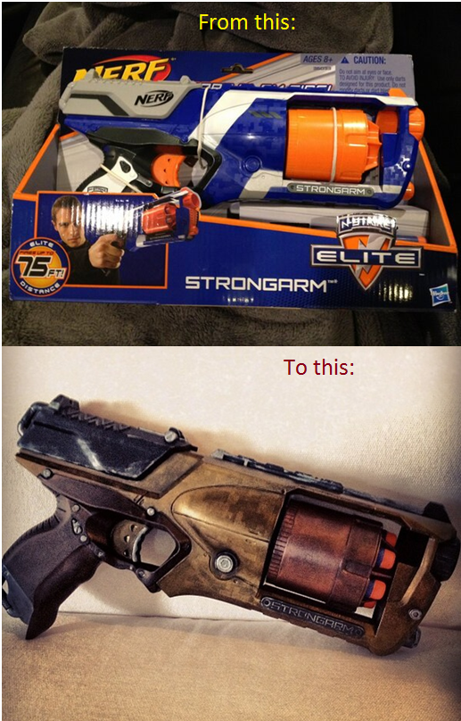 nerf strongarm ME2 mod black respray by MinionsLab ...