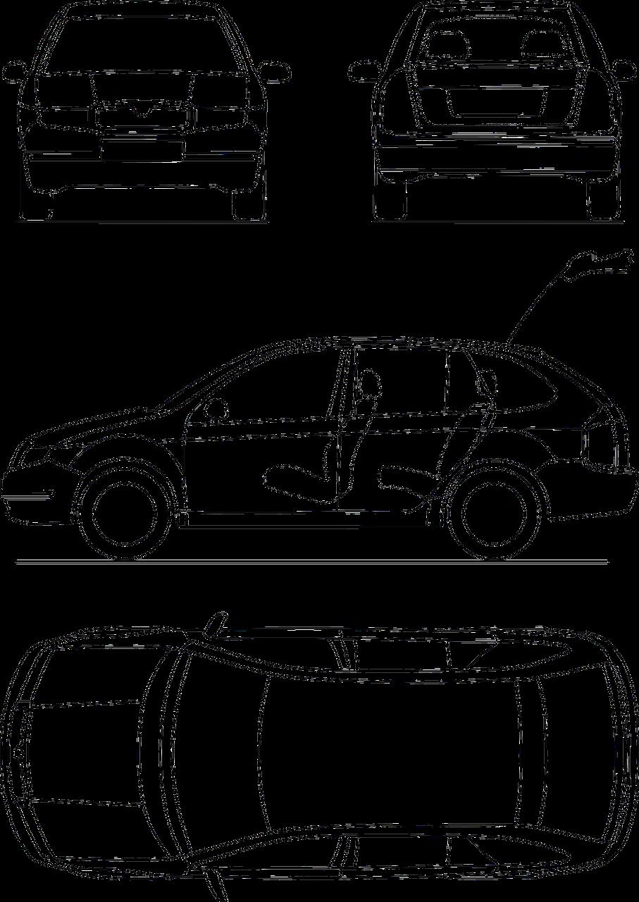 Blueprint Automobile Technical transparent image | Automobile ...