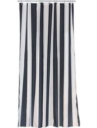 Duschdraperi svart vitt randigt polyester tyg  6efd2a2145bf1