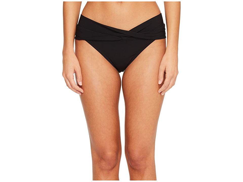 Robin Piccone Ava Twist Bikini Bottom Black Womens Swimwear Get that perfect selfie posted up by the pool in the chic Robin Piccone Ava Twist Bikini Bottom Bikini bottom...